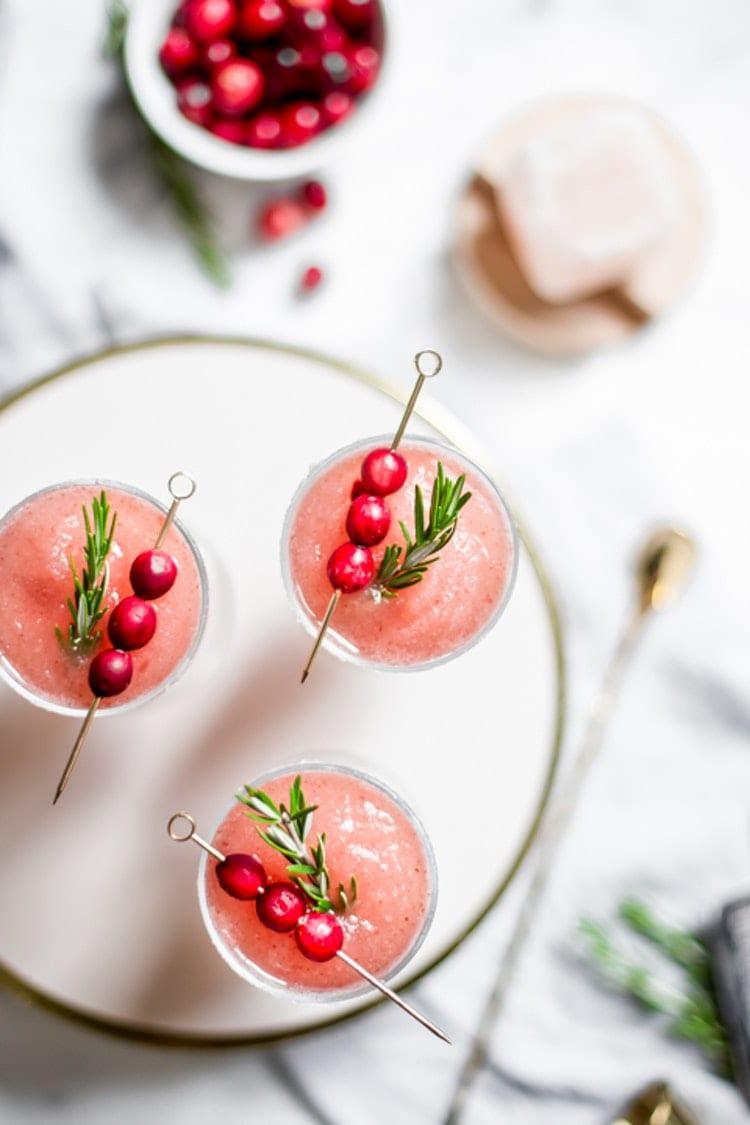 Cranberry Ancho Margaritas