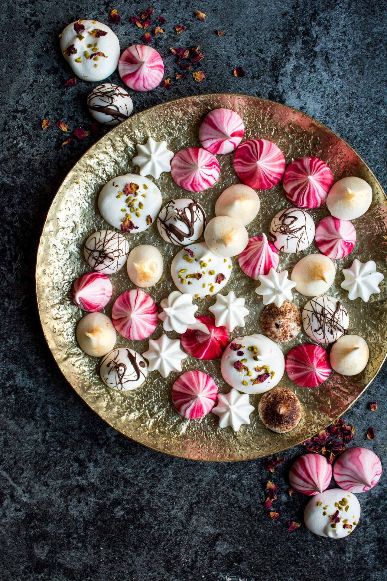 Vegan Meringue Cookies ~ 12 Days of Holiday Meringues