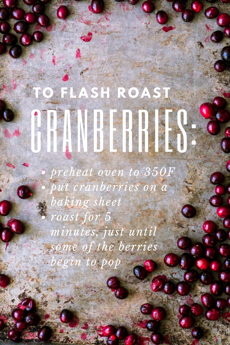 How to flash roast cranberries