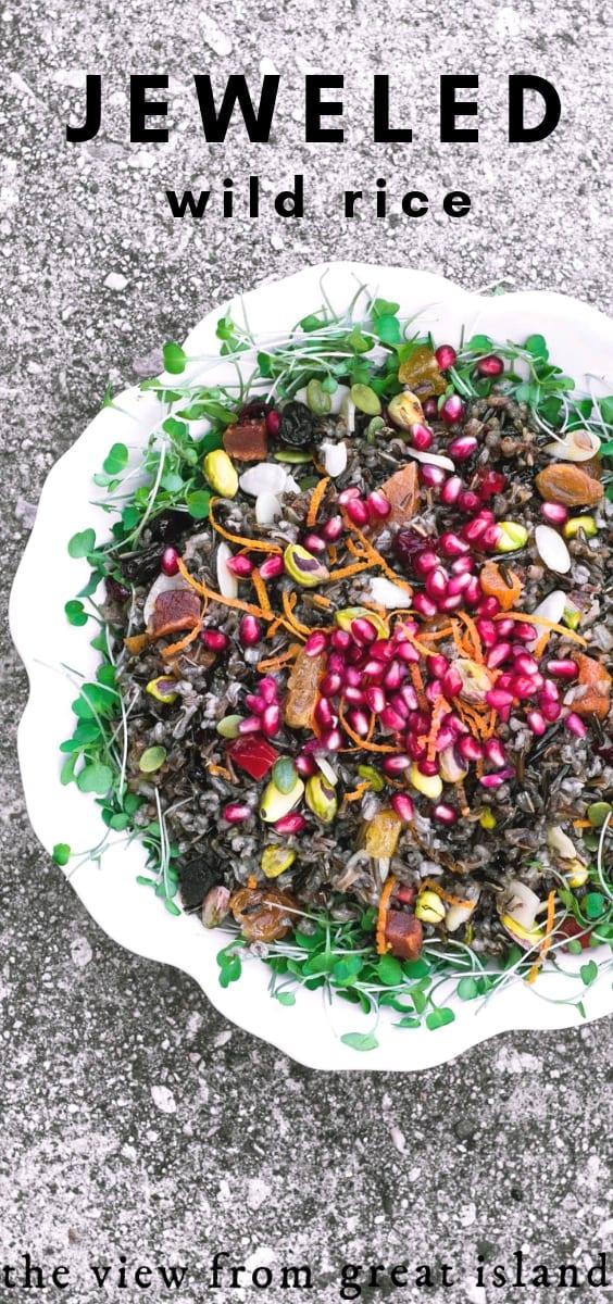 jeweled wild rice salad