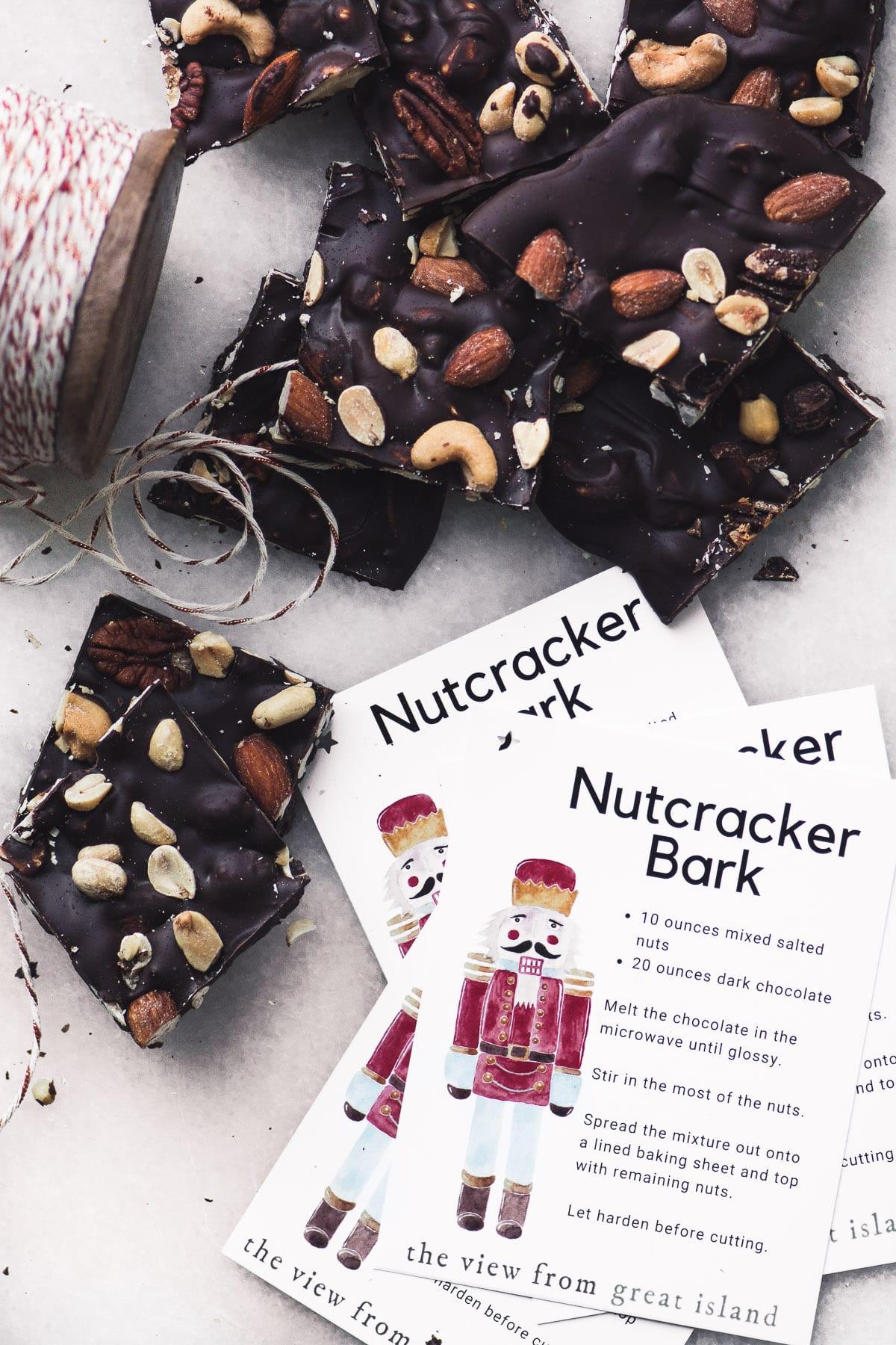 Nutcracker Bark and recipe tags