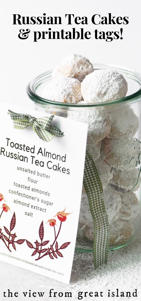 Toasted Almond Russian Tea Cakes pin.