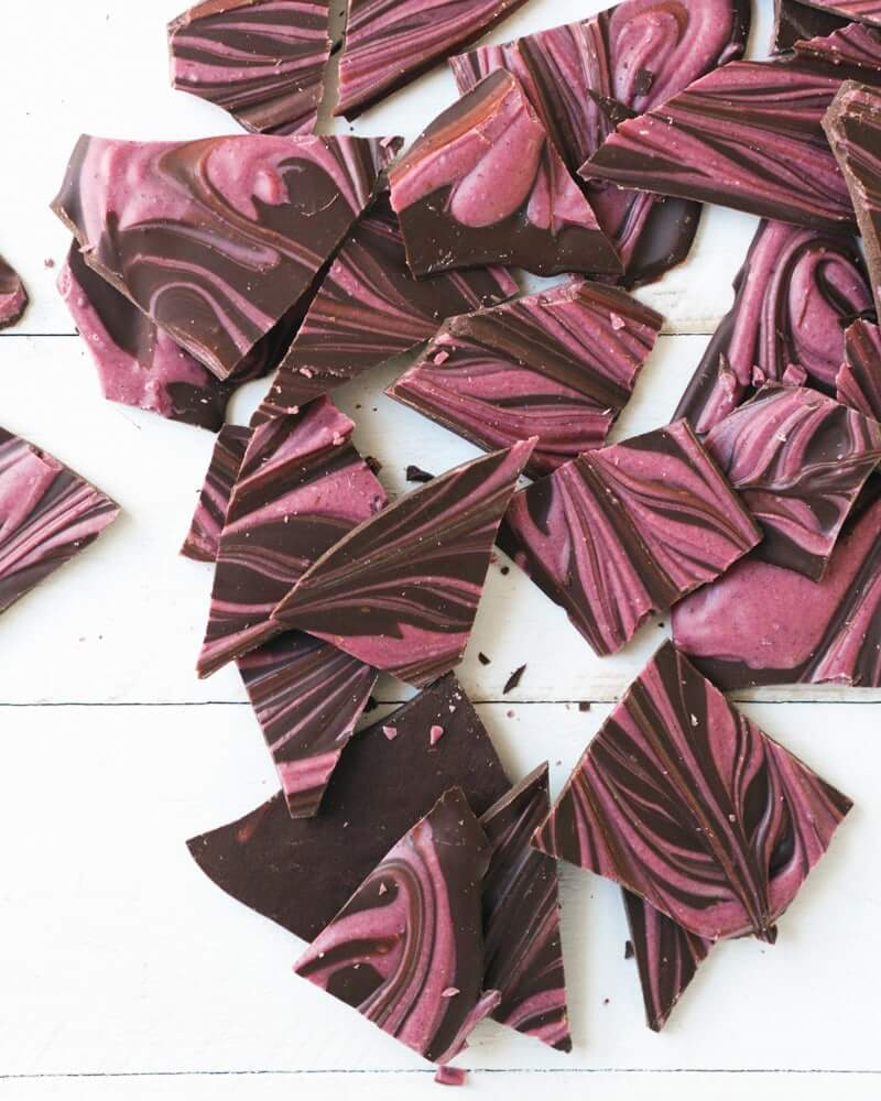 Beetroot Swirled Chocolate Bark