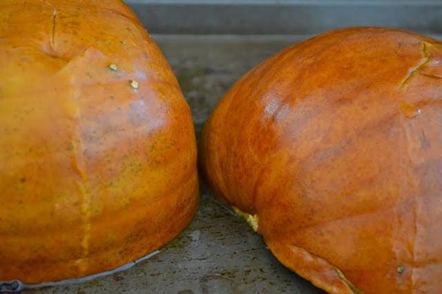 making pumpkin puree 2