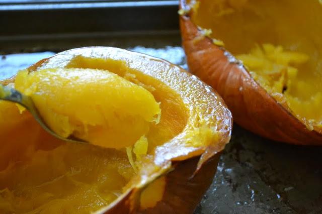 making pumpkin puree 3