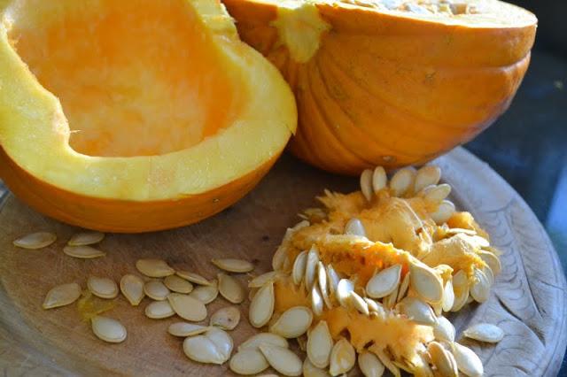 making pumpkin puree