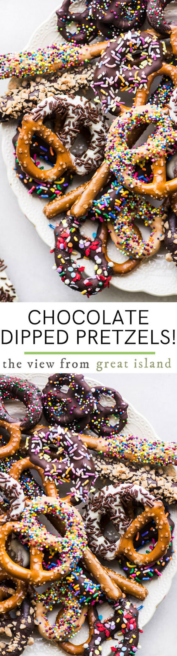 chocolate dipped pretzels pin