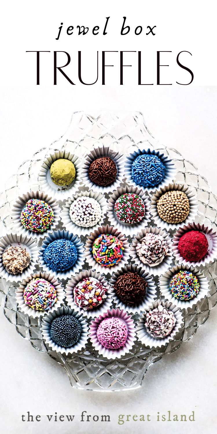 Jewel Box Truffles pin.
