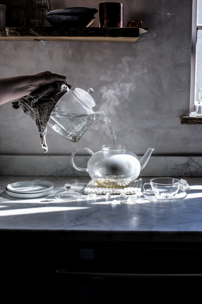 Pouring tea from Local Milk