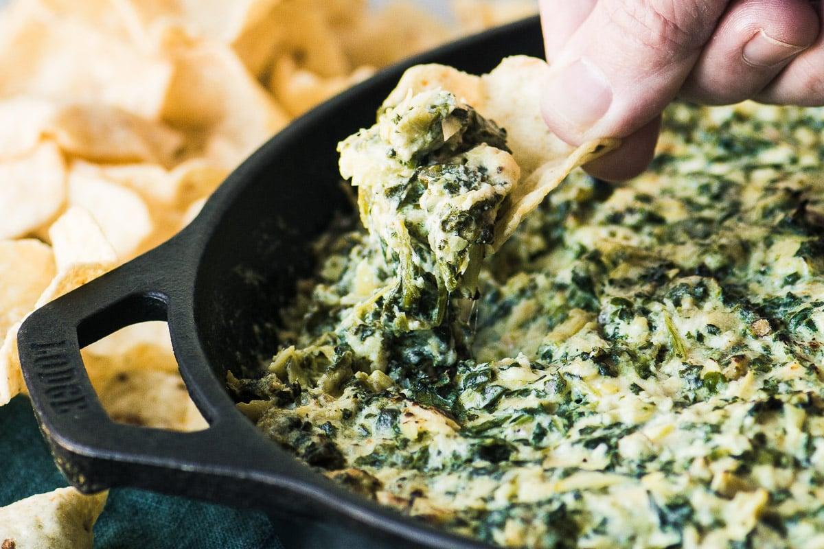Smokey Spinach Artichoke Dip