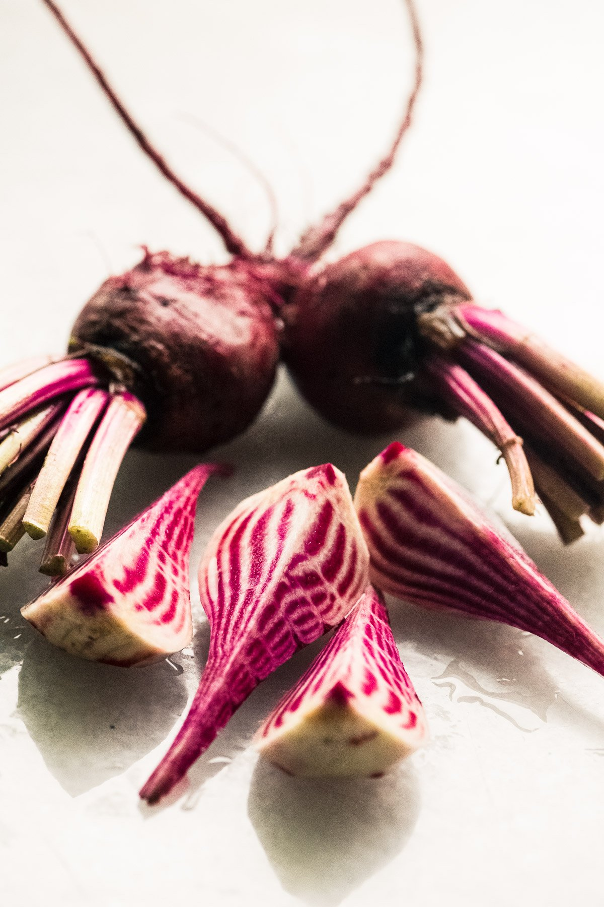 Pretty pink and white Chioggia beets