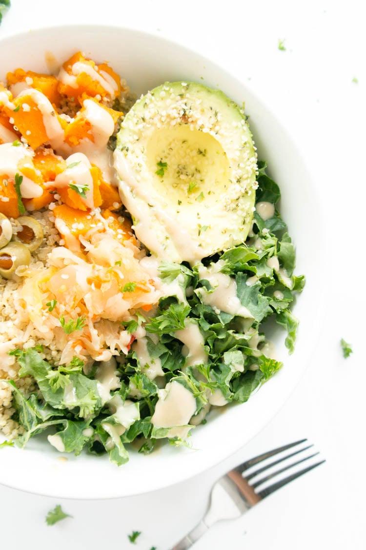 Kale and Quinoa Macro Glow Bowl