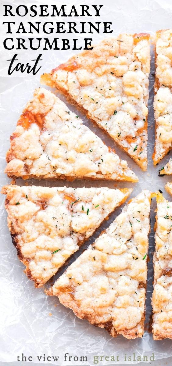 rosemary tangerine crumble tart