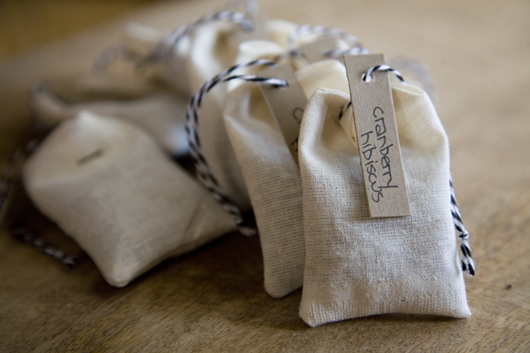 making your own tea bags
