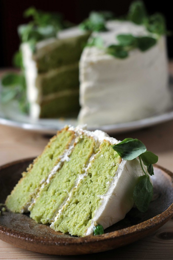 Pea and Vanilla Cake