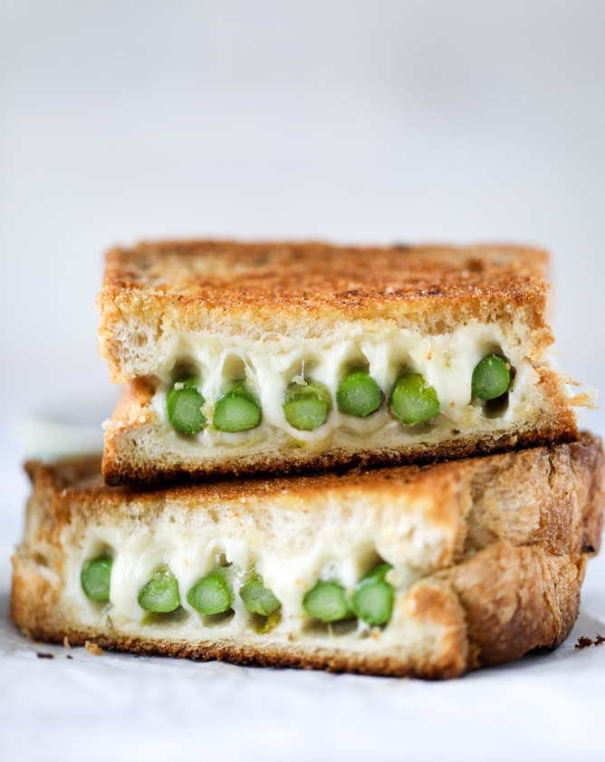 Asparagus Grilled Cheese with Brown Butter and Dijon