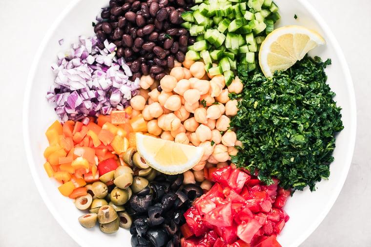 Balelea Salad, Middle Eastern Chickpea Salad