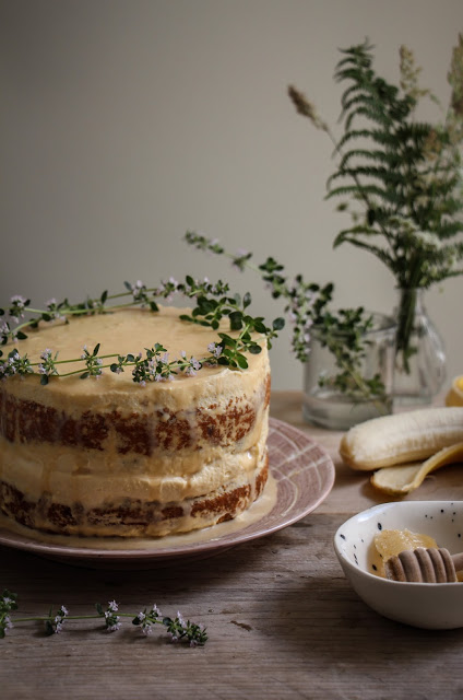 Banana Thyme Honey Cake