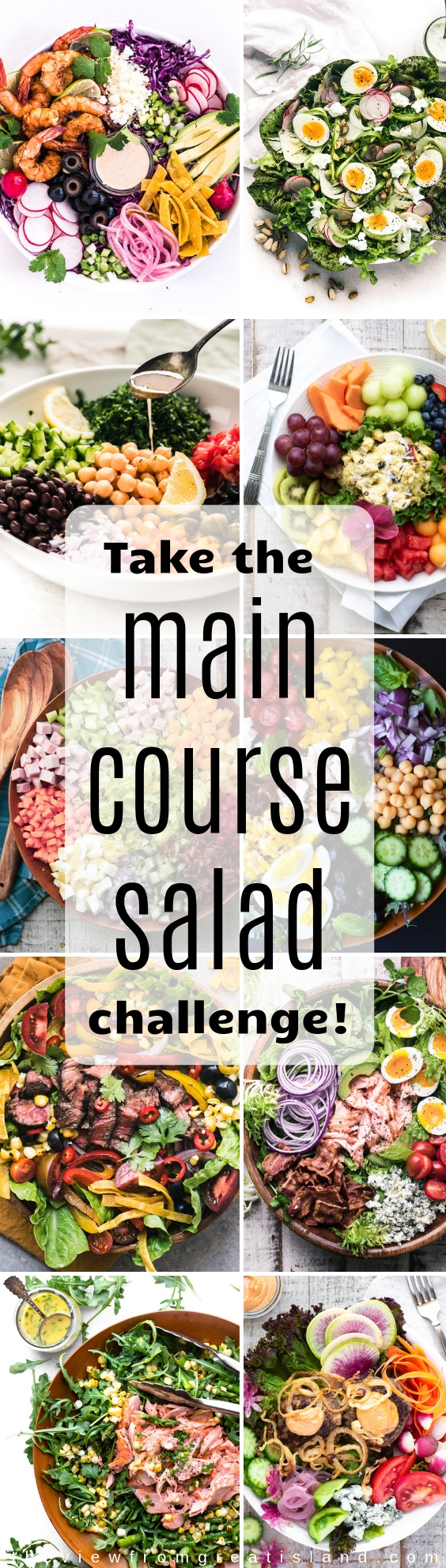 Healthy Main Course Salads ~ substitute a salad for dinner once a week to lighten up your meal plan!