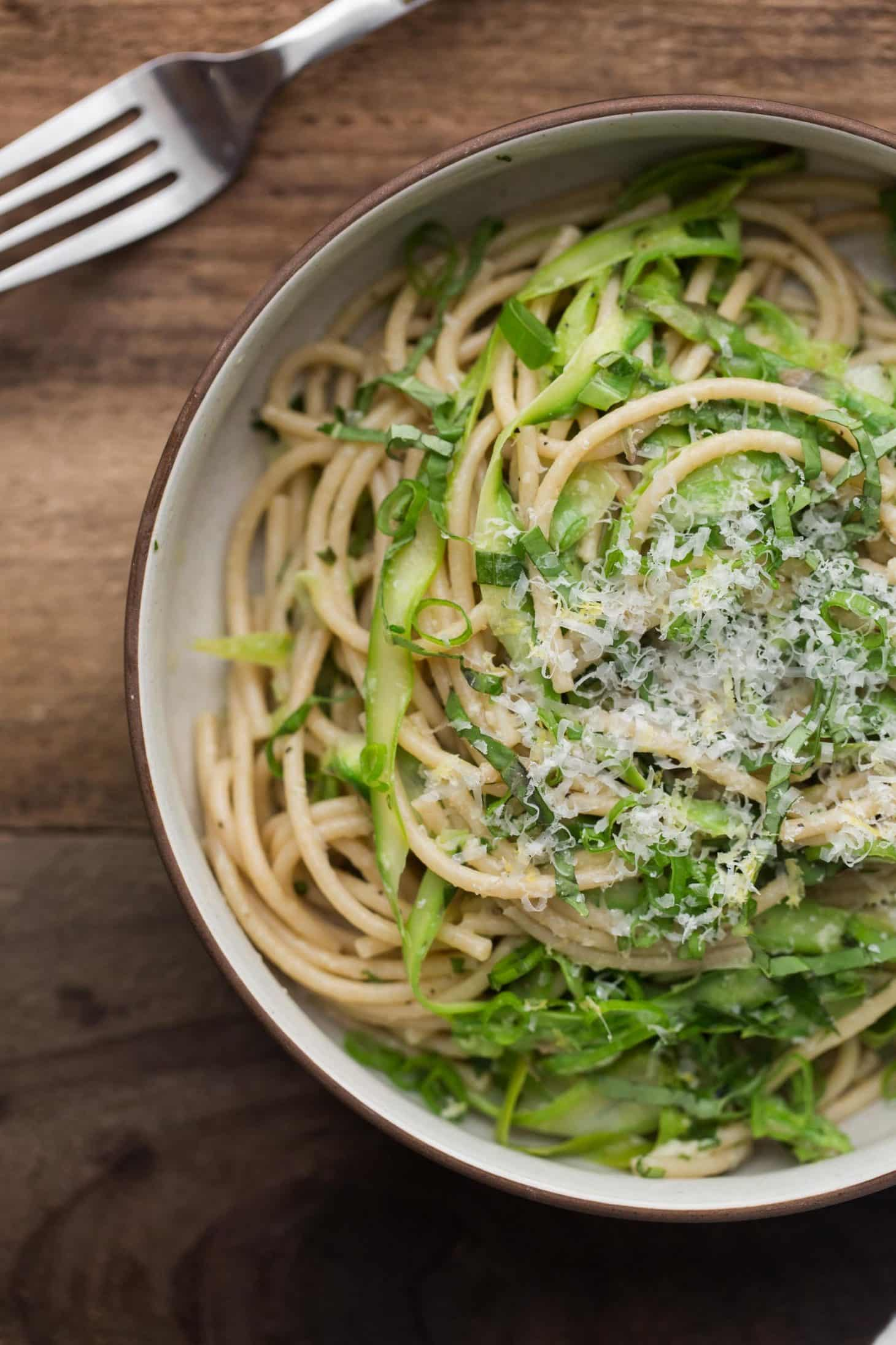 Spring Pasta with Shaved Asparagus