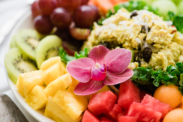 Great Island Salad with chicken salad and fruit