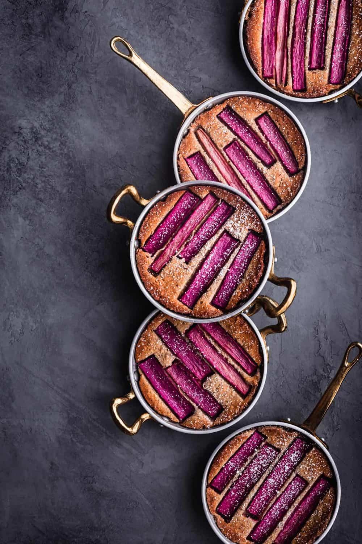 Gluten Free Rhubarb Almond Cakes