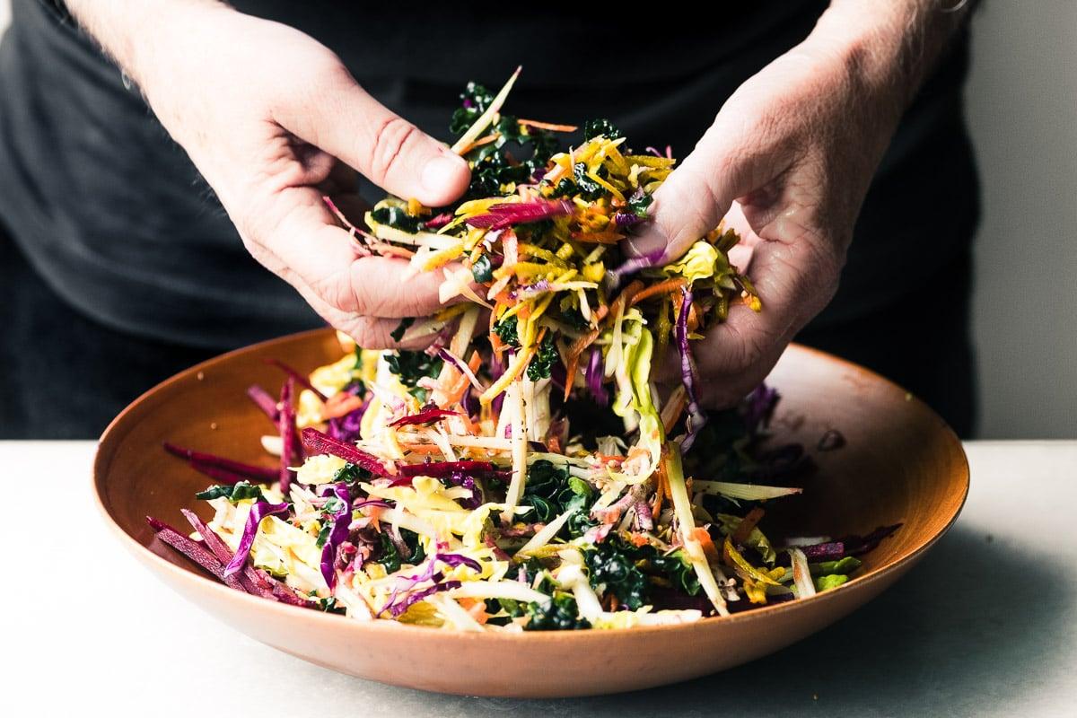 raw veggie slaw