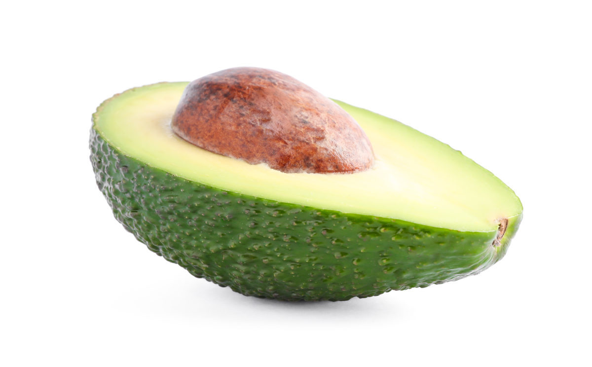 a cut avocado