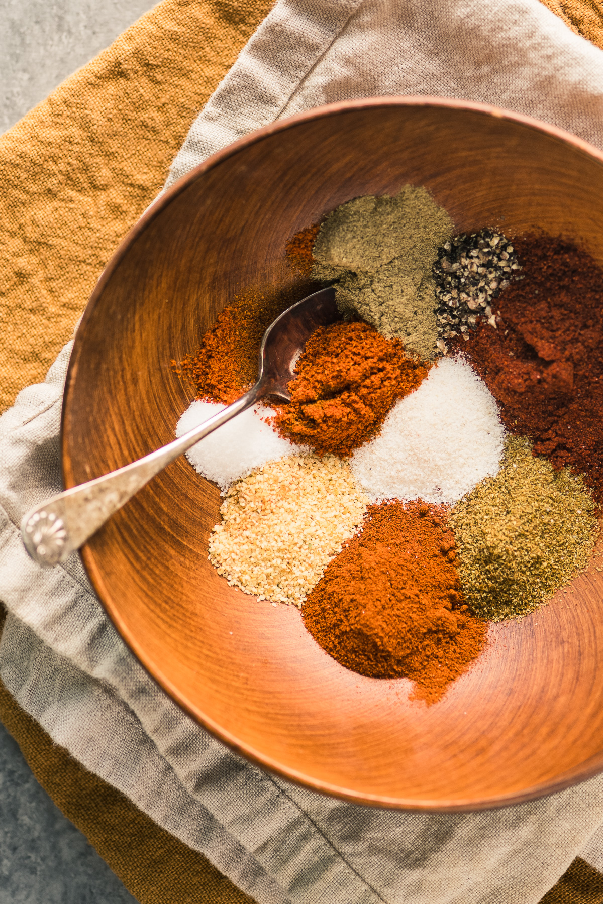 Making homemade fajita spice mix