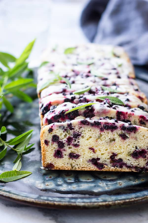 Huckleberry Lemon Vebena Tea Cake