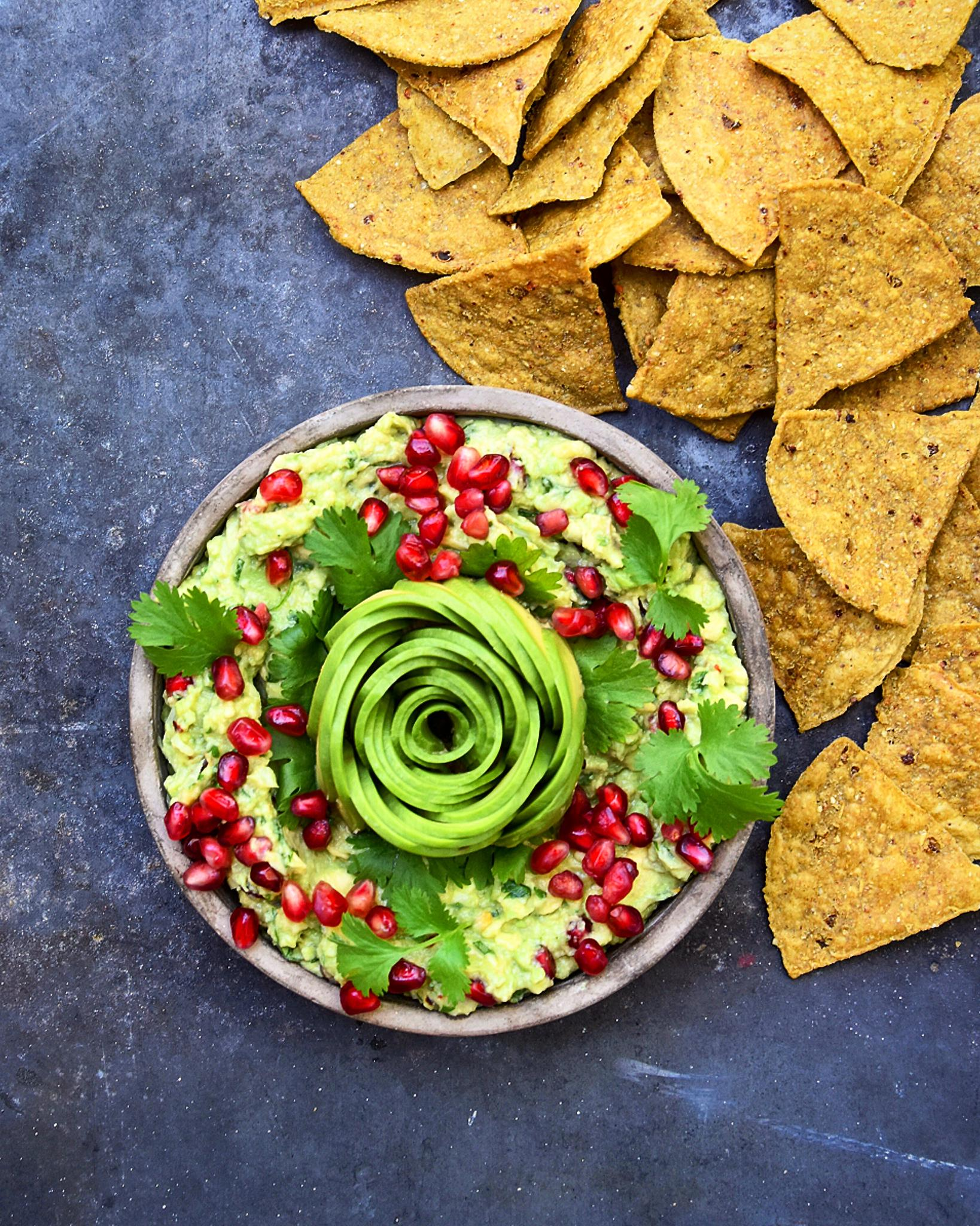 Pomegranate and Pickled Ginger Guacamole