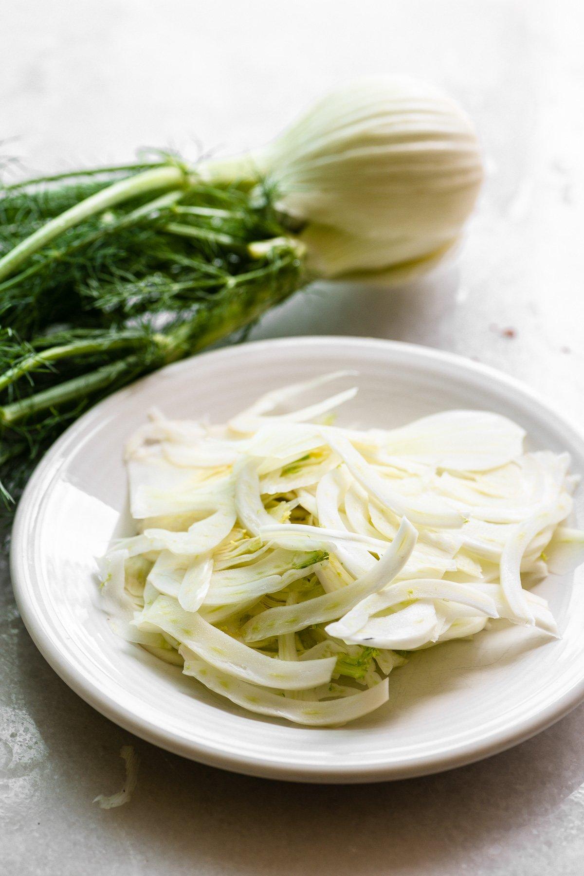 Shaved fennel for a spring salad