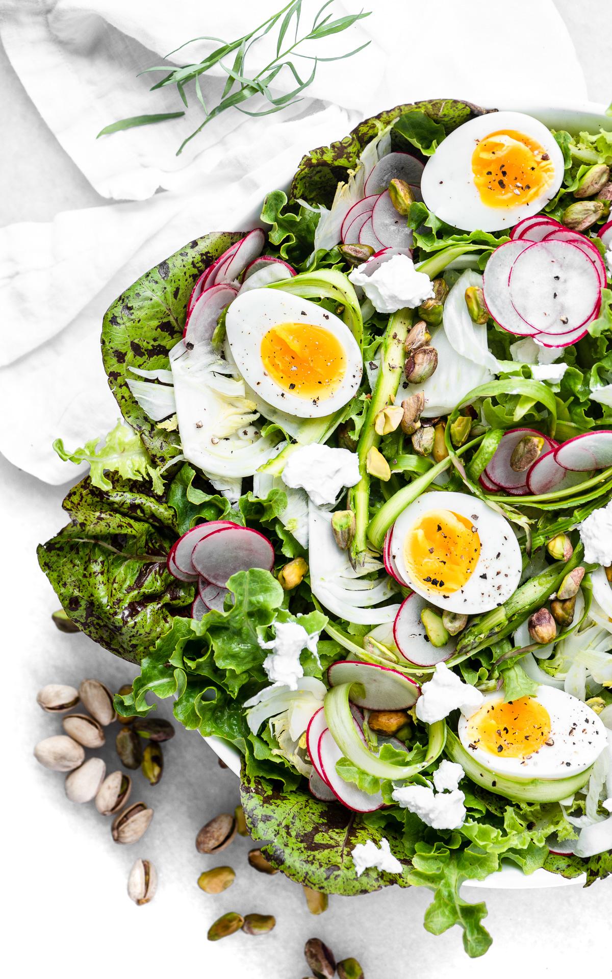 Spring Salad with Creamy Tarragon Dressing