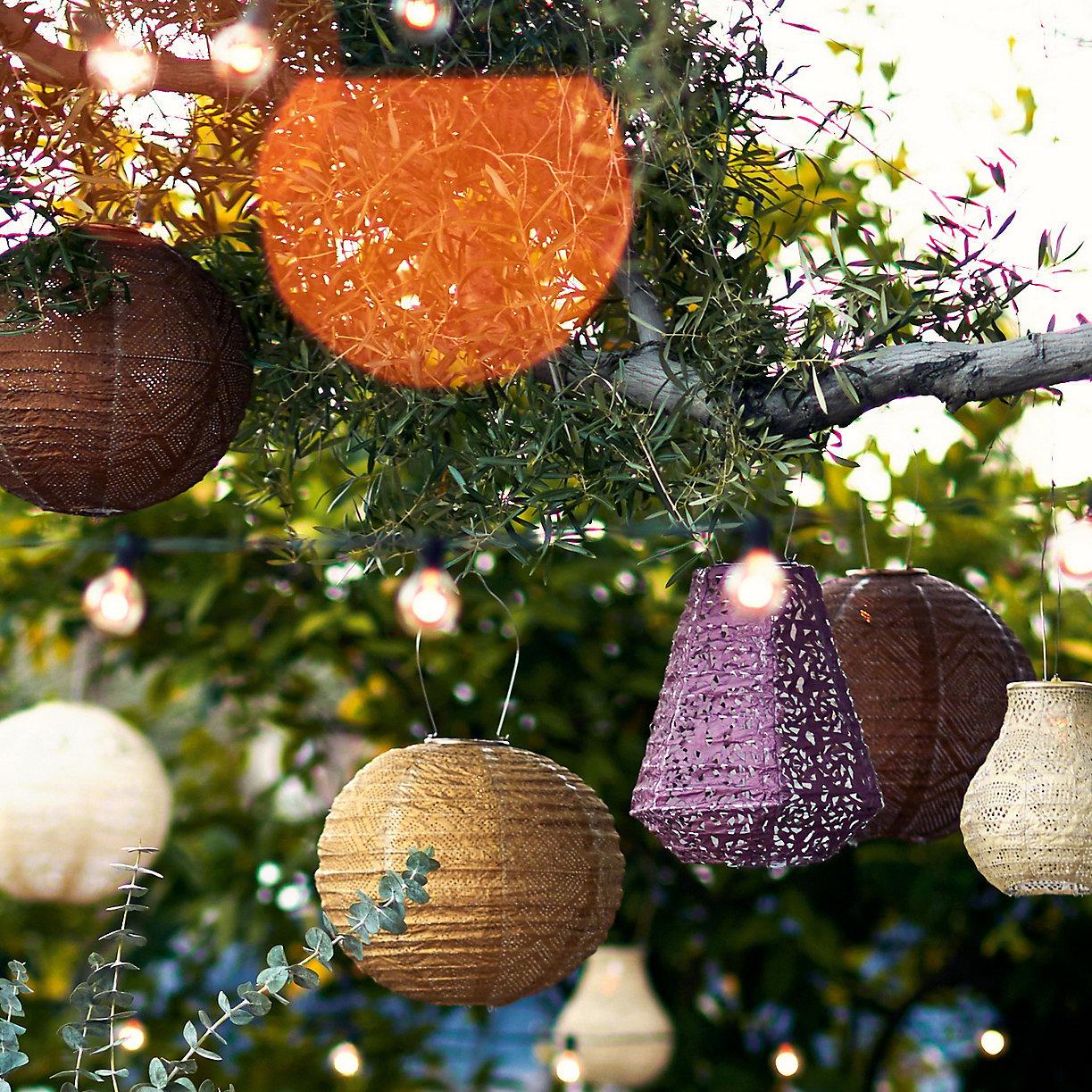 solar lanterns for zero waste entertaining