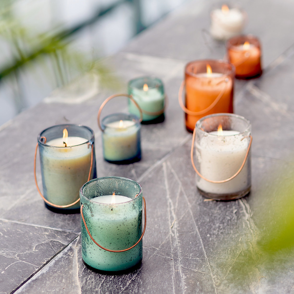 glass citronella candles for zero waste entertaining