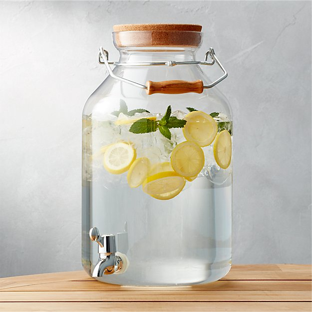 large drink dispenser for zero waste entertaining