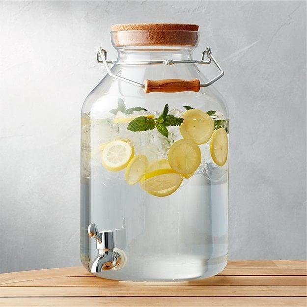 large drink dispenser for zero waste entertaining