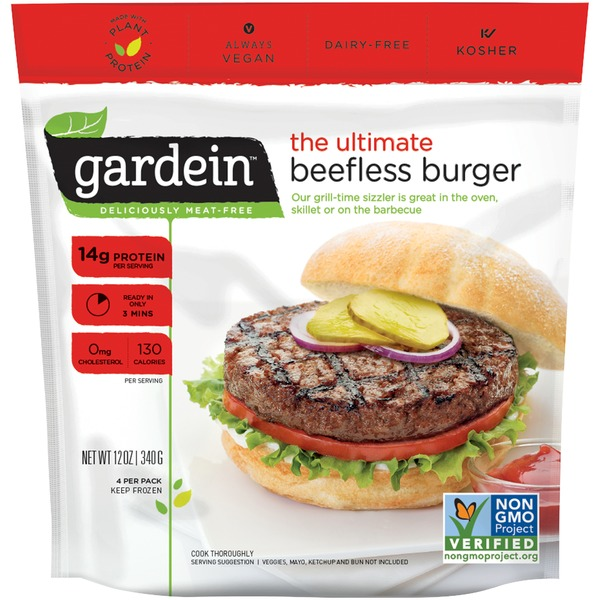 Gardein veggie burger package