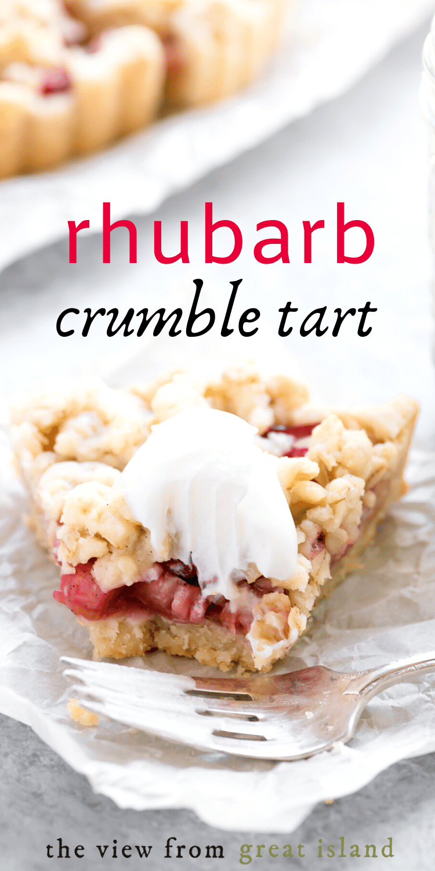 rhubarb crumble tart pin