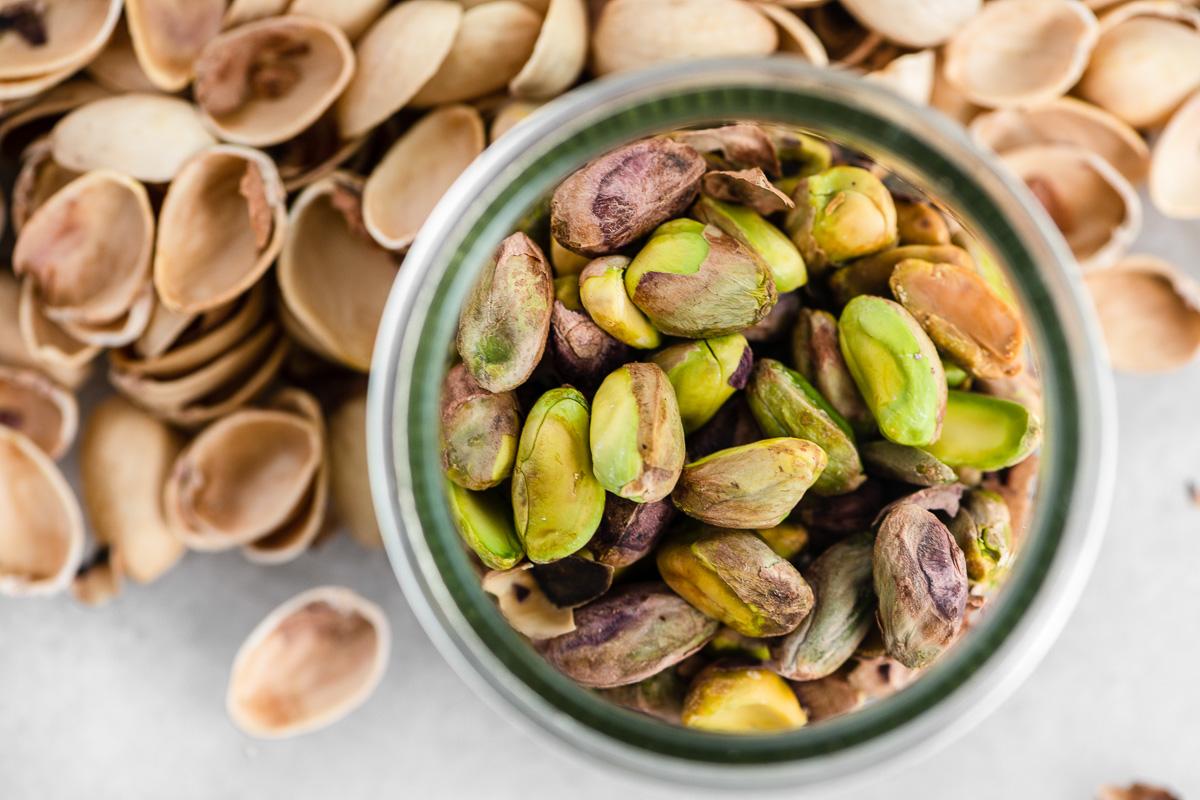 pistachios, shelled