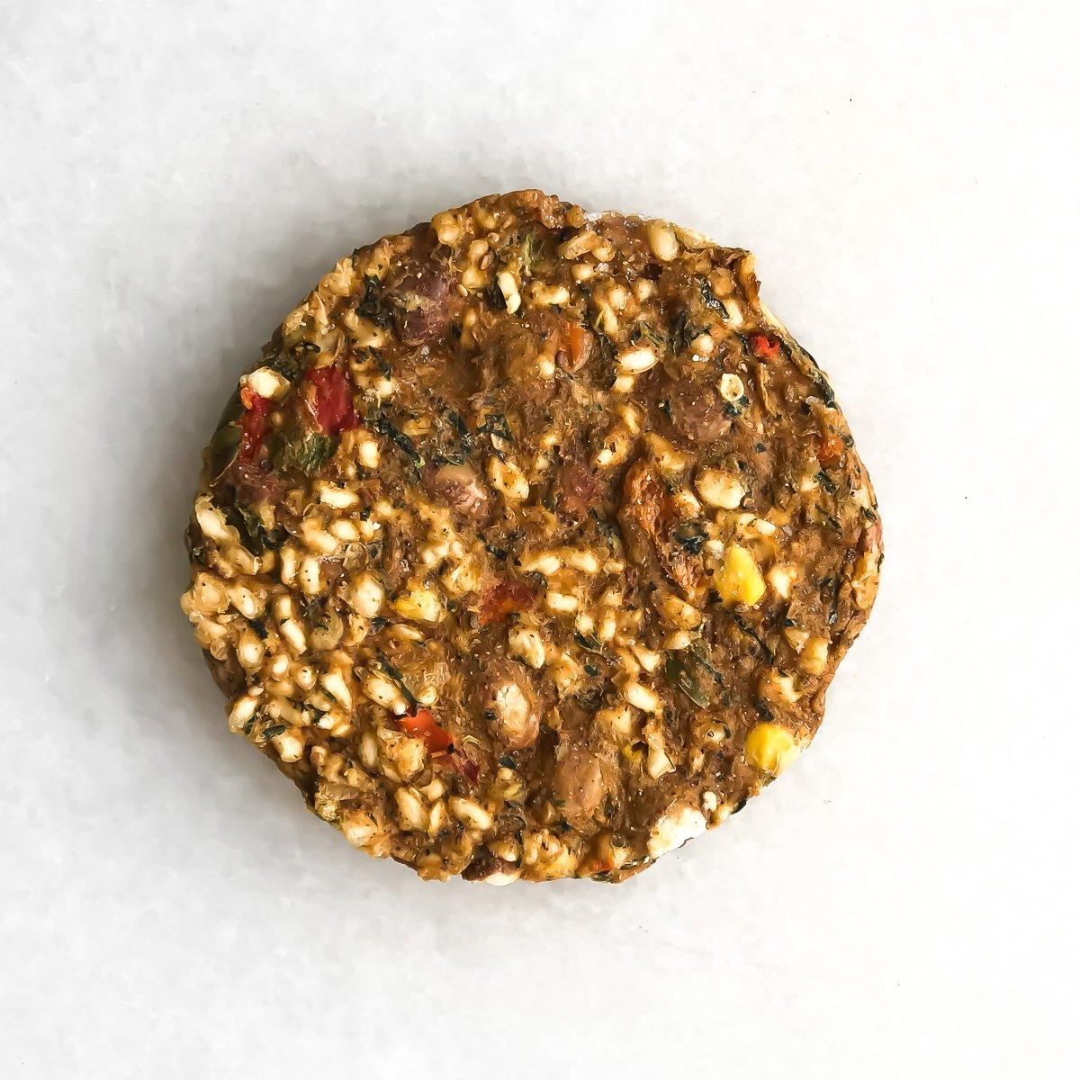 Pinto habanero veggie burger
