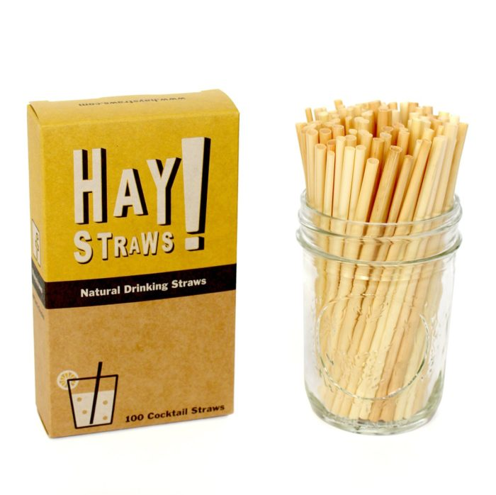 all natural eco-friendly straw made out of hay for zero waste entertaining