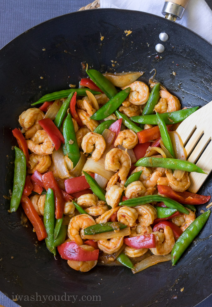 Panda Express inspired Wok Fired Shrimp
