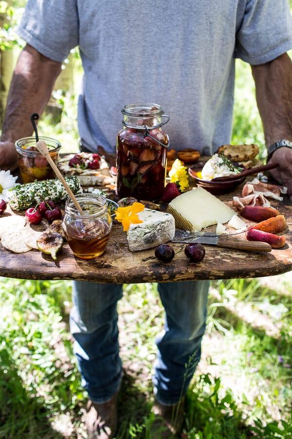 summer cheese platter for zero waste entertaining