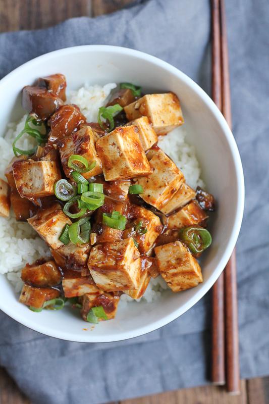 Panda Express inspired Eggplant Tofu