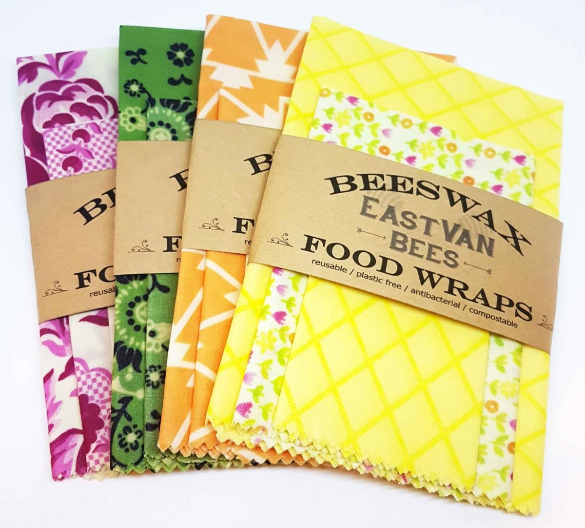 Bees Wax food wraps for zero waste entertaining