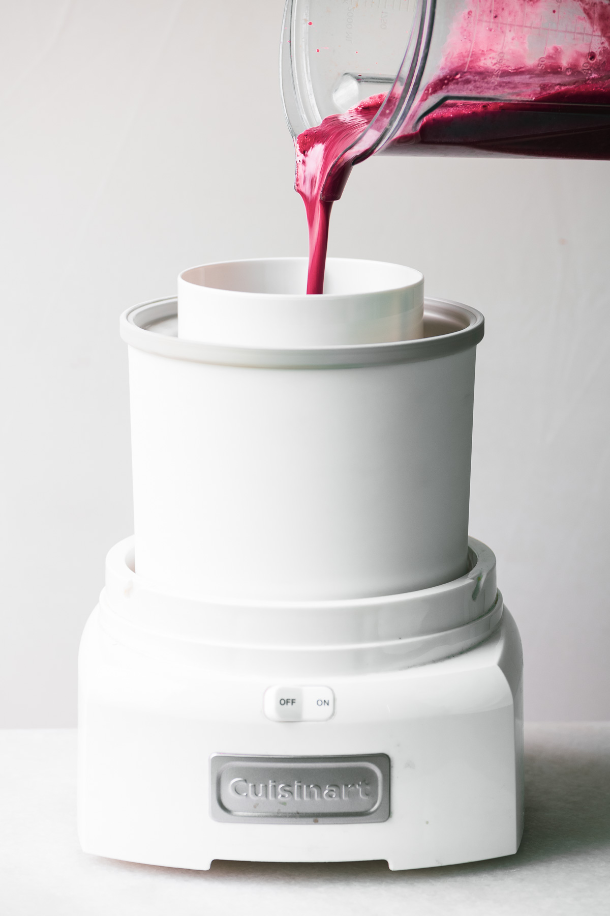 Making Easy Plum Amaretto Sorbet