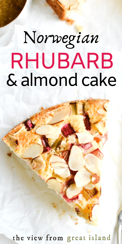 rhubarb almond cake pin