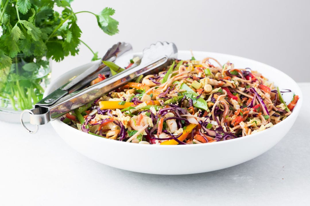 Crunchy and healthy Asian Slaw in a bowl