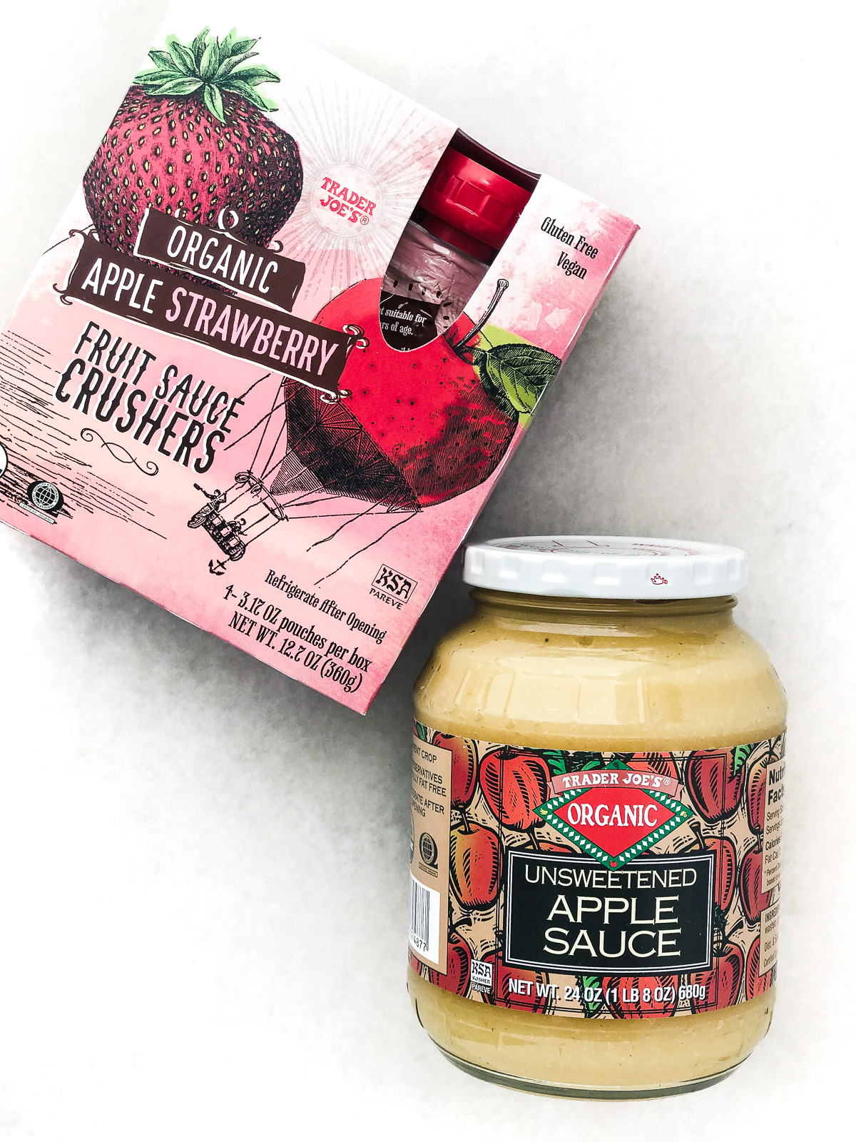 Trader Joe's applesauce and fruit squeeze packs